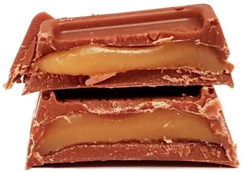 Roshen, baton Milk Chocolate Caramel, ukraiński baton czekoladowy, copyright Olga Kublik