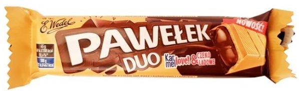 Wedel, baton czekoladowy Pawełek Duo Karmellove Czekoladowe, copyright Olga Kublik