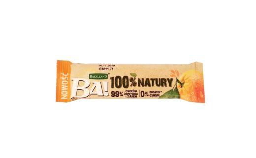 Bakalland, BA 100% natury raw bar Daktyle Pomarańcza, surowy baton wegański, zdrowe słodycze bez cukru i glutenu, copyright Olga Kublik