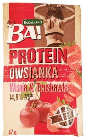 Bakalland, BA Protein Owsianka Wiśnia i Truskawka, zdrowa owsianka owocowa, copyright Olga Kublik