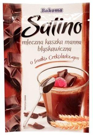 Bakoma, Satino mleczna kaszka manna błyskawiczna o smaku czekoladowym, kasza manna czekoladowa instant, copyright Olga Kublik