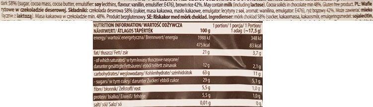 Good Food, Wafle ryżowe w czekoladzie deserowej, skład i wartości odżywcze, copyright Olga Kublik