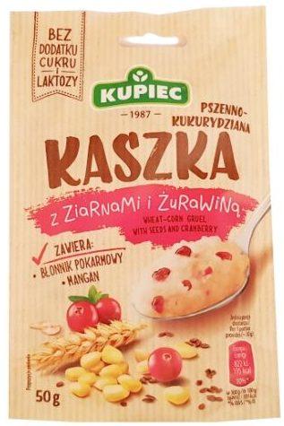 Kupiec, Kaszka pszenno-kukurydziana z ziarnami i żurawiną, deser bez cukru i laktozy, copyright Olga Kublik