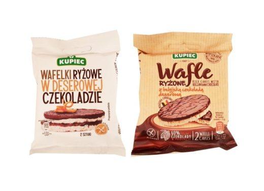Kupiec, Wafle ryżowe z czekoladą deserową, wafle ryżowe w czekoladzie deserowej, copyright Olga Kublik