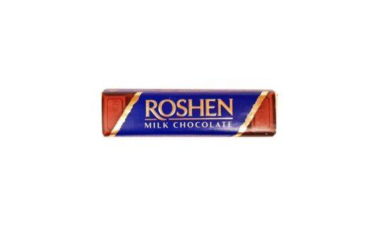 Roshen, baton Milk Chocolate Creme Brulee, ukraiński baton czekoladowy z nadzieniem, copyright Olga Kublik