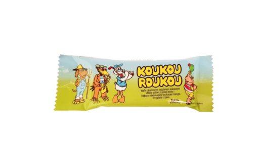 Tottis-Bingo, Koukou Roukou wafel z nadzieniem kakaowym, słodycze z XX wieku, copyright Olga Kublik