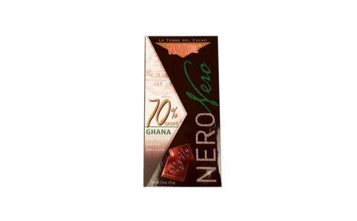 Elah Dufour, Novi Nero Nero Ghana 70% cacao, ciemna czekolada gorzka 70% kakao, czekolada z Włoch, copyright Olga Kublik