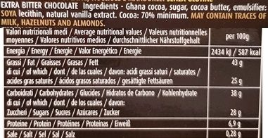 Elah Dufour, Novi Nero Nero Ghana 70% cacao, ciemna czekolada gorzka 70% kakao, czekolada z Włoch, skład i wartości odżywcze, copyright Olga Kublik