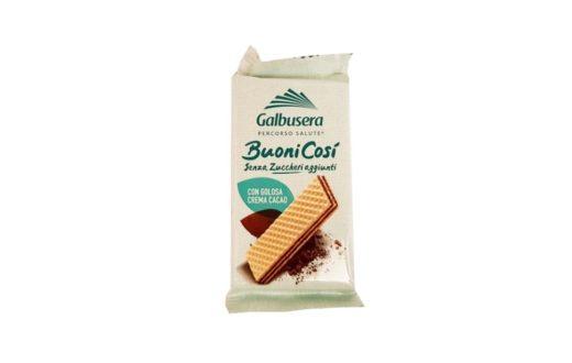 Galbusera, kakaowe wafle bez cukru Buoni Cosi Senza Zuccheri aggiunti cacao, zdrowe słodycze, copyright Olga Kublik