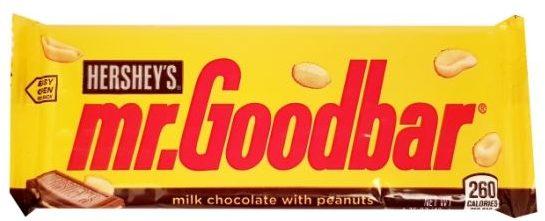 Hershey's, baton mr. Goodbar mleczna czekolada z fistaszkami, copyright Olga Kublik