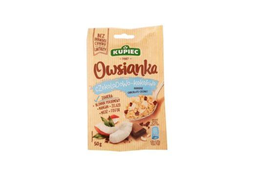 Kupiec, Owsianka czekoladowo-kokosowa, owsianka bez cukru i laktozy, copyright Olga Kublik