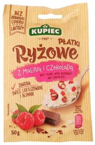 Kupiec, Płatki Ryżowe z maliną i czekoladą, zdrowy deser bez cukru, copyright Olga Kublik