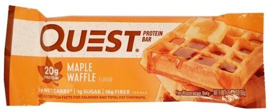 Quest Nutrition, Quest Bar Maple Waffle Flavor, zdrowy baton proteinowy bez cukru, copyright Olga Kublik