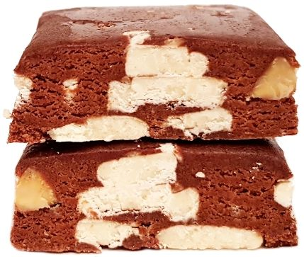 Quest Nutrition, Quest Bar Rocky Road Flavor, czekoladowy baton proteinowy z migdałami i piankami marshmallow, słodycze bez cukru, copyright Olga Kublik