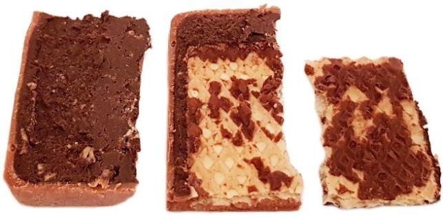 Ritter Sport, Waffel, mleczna czekolada z waflem kakaowym, kremem kakaowym i słonymi chrupkami ryżowymi, copyright Olga Kublik