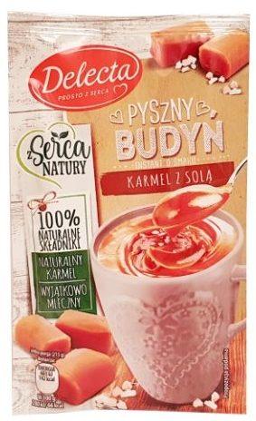 Delecta, Pyszny Budyń karmelowy z sola, copyright Olga Kublik