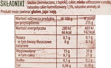 Delecta, Pyszny Budyń karmelowy z sola, skład i wartości odżywcze, copyright Olga Kublik