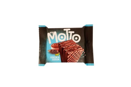 Italmex, My motto wafelek Cocoa Cocoa, wafel kakaowy i wafel czekoladowy w jednym, copyright Olga Kublik