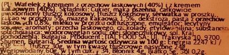 Italmex, My motto wafelek Hazelnut Cocoa, wafel orzechowo-kakaowy, skład i wartości odżywcze, copyright Olga Kublik