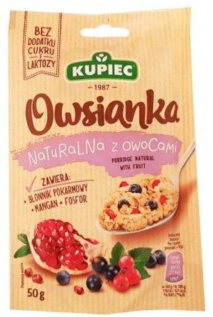 Kupiec, Owsianka naturalna z owocami, zdrowa owsianka bez cukru i laktozy, copyright Olga Kublik