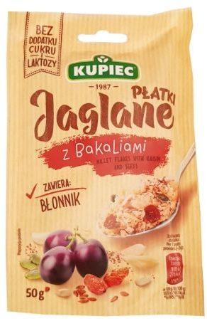 Kupiec, Płatki Jaglane z bakaliami, deser błyskawiczny jaglanka z cynamonem bez cukru, copyright Olga Kublik