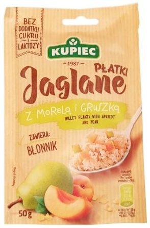 Kupiec, Płatki Jaglane z morelą i gruszką, zdrowa jaglanka bez cukru i laktozy, copyright Olga Kublik