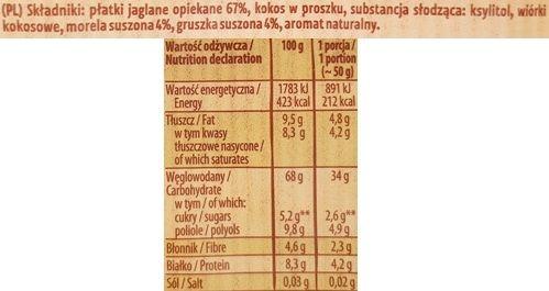 Kupiec, Płatki Jaglane z morelą i gruszką, zdrowa jaglanka bez cukru i laktozy, skład i wartości odżywcze, copyright Olga Kublik