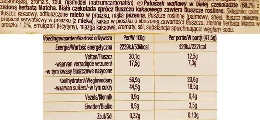 Nestle, Kit Kat Green Tea Matcha, kit kat zielona herbata, skład i wartości odżywcze, copyright Olga Kublik