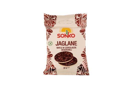 Sonko, Jaglane wafle w czekoladzie deserowej, copyright Olga Kublik