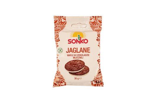 Sonko, Jaglane wafle w czekoladzie mlecznej, copyright Olga Kublik