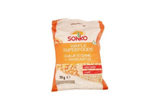 Sonko, Wafle Superfoods kukurydziane amarantus, wafle kukurydziane, copyright Olga Kublik