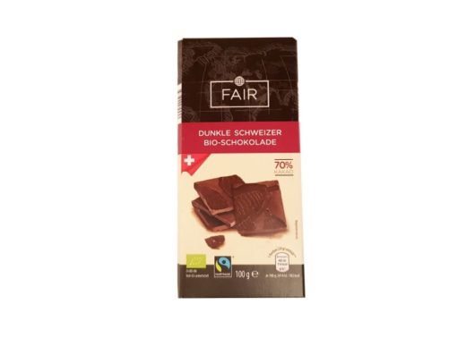 Chocolats Halba, Fairtrade Dunkle Schweizer Bio-Schokolade 70 kakao, ciemna czekolada ekologiczna Fair, copyright Olga Kublik