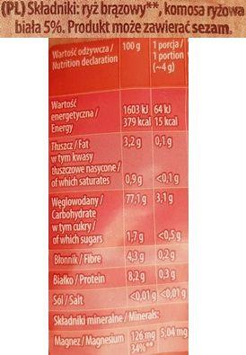 Kupiec, Wafle ryżowe bez glutenu Super Slim z komosą ryżową, skład i wartości odżywcze, copyright Olga Kublik