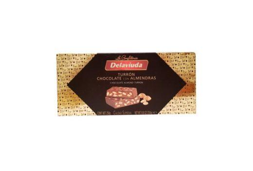 La Confiteria Delaviuda, Turron Chocolate Con Almendras, hiszpański nugat z migdałami, copyright Olga Kublik
