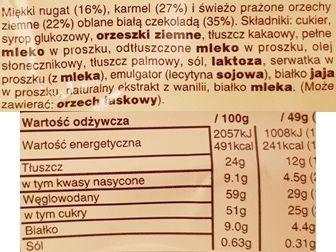 Mars, Snickers White 2019, baton czekoladowy z białą czekoladą, karmelem, nugatem i fistaszkami, skład i wartości odżywcze, copyright Olga Kublik