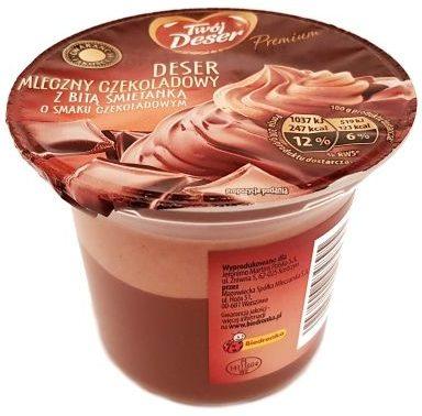 Mazowiecka Spółka Mleczarska, Twój Deser Premium deser mleczny czekoladowy z bitą śmietanką o smaku czekoladowym Biedronka, copyright Olga Kublik