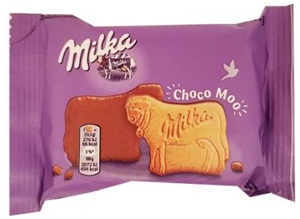 Milka, Choco Moo ciastka z czekoladą, herbatniki krowy, copyright Olga Kublik