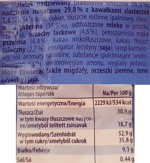 Storck, wafelek Knoppers Black White, skład i wartości odżywcze, copyright Olga Kublik