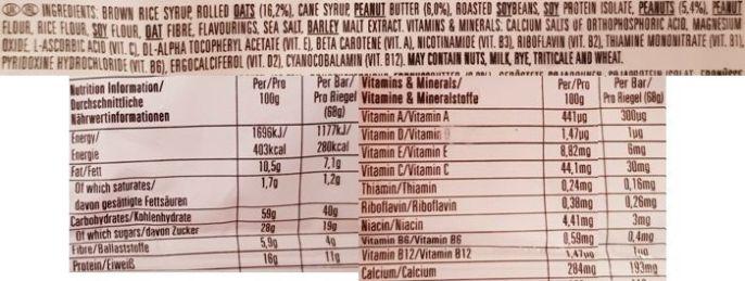 Clif Bar, Energy Bar Crunchy Peanut Butter, baton owsiany z masłem orzechowym, skład i wartości odżywcze, copyright Olga Kublik