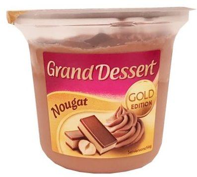 Ehrmann, Grand Dessert Nougat Gold Edition, pudding z bitą śmietaną, deser czekoladowo-orzechowy, copyright Olga Kublik