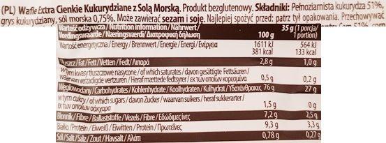 Good Food, Solone wafle kukurydziane extra cienkie, skład i wartości odżywcze, copyright Olga Kublik
