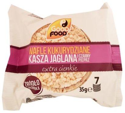 Good Food, Wafle kukurydziane extra cienkie kasza jaglana i czarny pieprz, copyright Olga Kublik