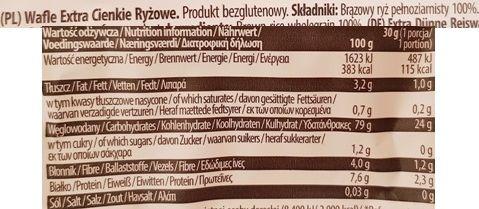 Good Food, Wafle ryżowe naturalne extra cienkie, skład i wartości odżywcze, copyright Olga Kublik