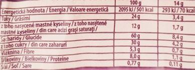 Milka, Choco Grain ciastka z czekoladą i płatkami owsianymi, wartości odżywcze i kalorie, copyright Olga Kublik