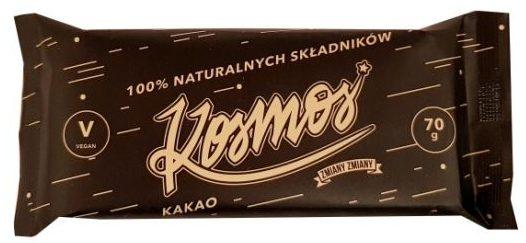 Zmiany Zmiany, surowy baton wegański Kosmos, zdrowy baton kakaowy, copyright Olga Kublik