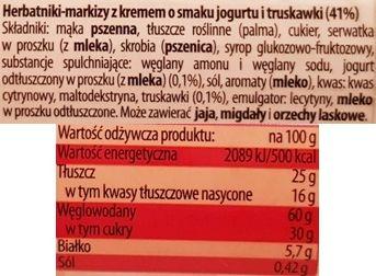 Bahlsen, Hit ciastka o smaku jogurtu i truskawki, skład i wartości odżywcze, copyright Olga Kublik
