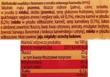 Bahlsen, Hit ciastka o smaku slonego karmelu, skład i wartości odżywcze, copyright Olga Kublik