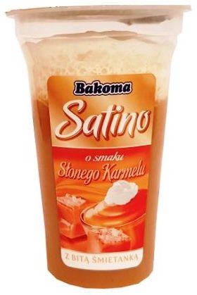Bakoma, Satino o smaku Słonego Karmelu deser z bitą śmietaną, copyright Olga Kublik