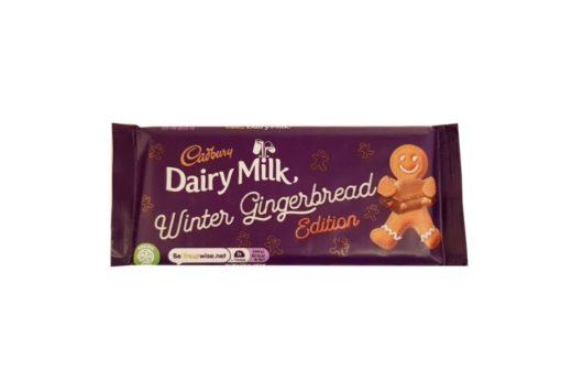 Cadbury, Dairy Milk Winter Gingerbread Edition, mleczna czekolada piernikowa z ciasteczkami korzennymi, copyright Olga Kublik