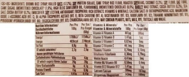 Clif Bar, Energy Bar Coconut Chocolate Chip, wegański baton owsiany czekoladowo-kokosowy, skład i wartości odżywcze, copyright Olga Kublik